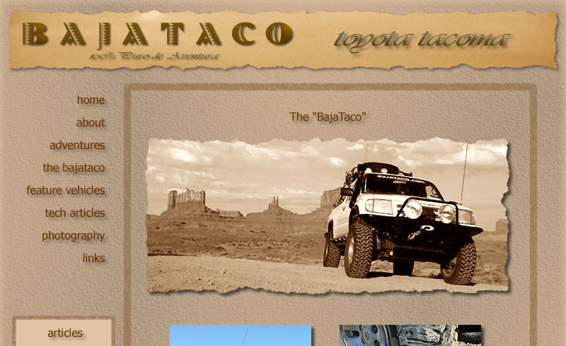 BajaTaco Toyota Tacoma built for expedition travel