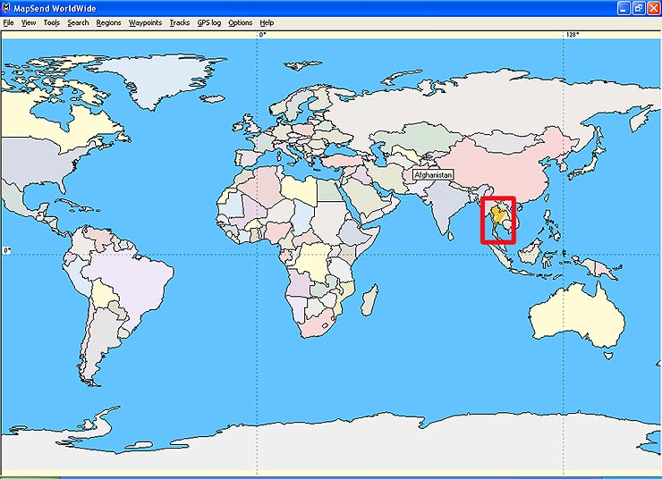 Where Is Thailand On The Map Thailand GPS Maps 2004 2005 Where Is Thailand On The Map